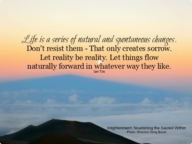 life is a series of changes