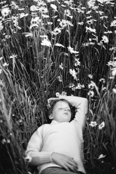 child in field