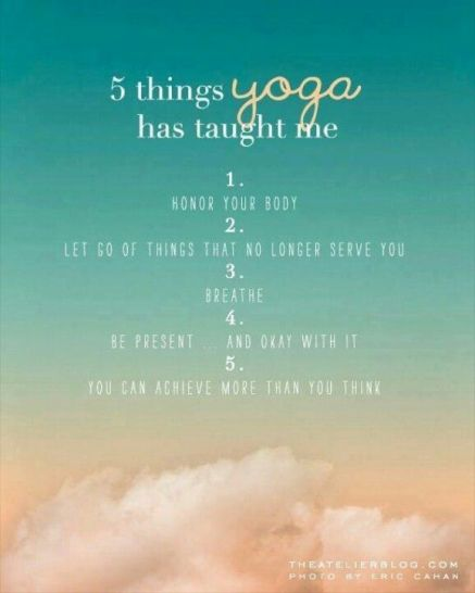 what yoga has taught me